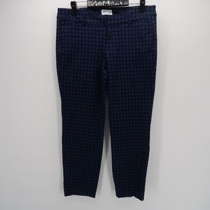 Old Navy Pixie Blue Black Pants Size 10